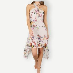 BISHOP +YOUNG Sz M Ana Floral Dress Halter NWT